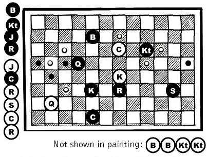 Courier Chess -- painting game